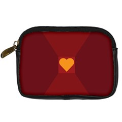 Heart Red Yellow Love Card Design Digital Camera Cases