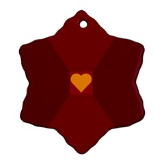 Heart Red Yellow Love Card Design Ornament (snowflake)
