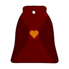Heart Red Yellow Love Card Design Ornament (bell)