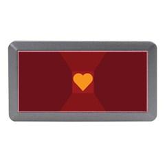 Heart Red Yellow Love Card Design Memory Card Reader (mini)