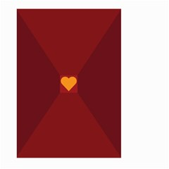 Heart Red Yellow Love Card Design Large Garden Flag (two Sides)