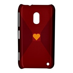 Heart Red Yellow Love Card Design Nokia Lumia 620