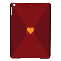 Heart Red Yellow Love Card Design Ipad Air Hardshell Cases