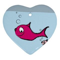 Fish Swarm Meeresbewohner Creature Ornament (heart)
