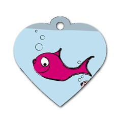 Fish Swarm Meeresbewohner Creature Dog Tag Heart (one Side)
