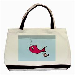 Fish Swarm Meeresbewohner Creature Basic Tote Bag (two Sides)