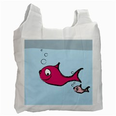Fish Swarm Meeresbewohner Creature Recycle Bag (one Side)