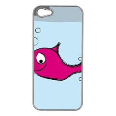 Fish Swarm Meeresbewohner Creature Apple Iphone 5 Case (silver)