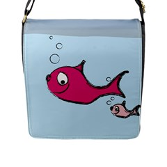 Fish Swarm Meeresbewohner Creature Flap Messenger Bag (l)