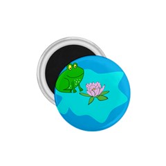 Frog Flower Lilypad Lily Pad Water 1 75  Magnets