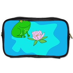Frog Flower Lilypad Lily Pad Water Toiletries Bags 2 Side