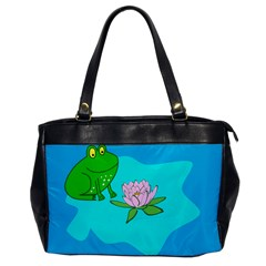 Frog Flower Lilypad Lily Pad Water Office Handbags