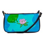 Frog Flower Lilypad Lily Pad Water Shoulder Clutch Bags Front