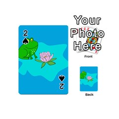Frog Flower Lilypad Lily Pad Water Playing Cards 54 (mini)