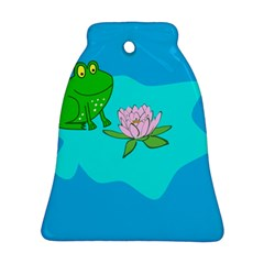 Frog Flower Lilypad Lily Pad Water Bell Ornament (two Sides)