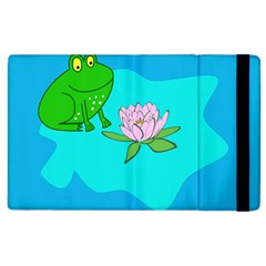 Frog Flower Lilypad Lily Pad Water Apple Ipad 2 Flip Case