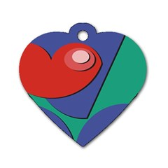 Clipart Portrait Illustration Dog Tag Heart (two Sides)