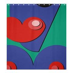 Clipart Portrait Illustration Shower Curtain 66  X 72  (large)