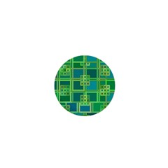 Green Abstract Geometric 1  Mini Buttons