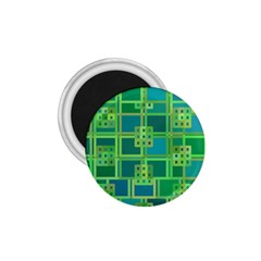 Green Abstract Geometric 1 75  Magnets