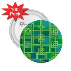 Green Abstract Geometric 2 25  Buttons (100 Pack)