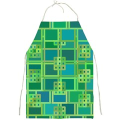 Green Abstract Geometric Full Print Aprons