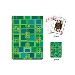 Green Abstract Geometric Playing Cards (mini)