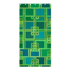 Green Abstract Geometric Shower Curtain 36  X 72  (stall)