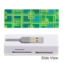 Green Abstract Geometric Memory Card Reader (stick)