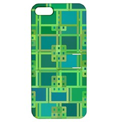 Green Abstract Geometric Apple Iphone 5 Hardshell Case With Stand