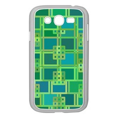 Green Abstract Geometric Samsung Galaxy Grand Duos I9082 Case (white)
