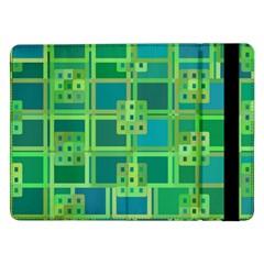 Green Abstract Geometric Samsung Galaxy Tab Pro 12 2  Flip Case