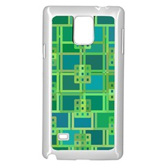 Green Abstract Geometric Samsung Galaxy Note 4 Case (white)