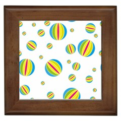 Balloon Ball District Colorful Framed Tiles