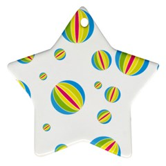 Balloon Ball District Colorful Ornament (star)