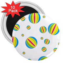 Balloon Ball District Colorful 3  Magnets (10 Pack)