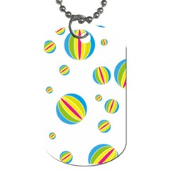 Balloon Ball District Colorful Dog Tag (one Side)