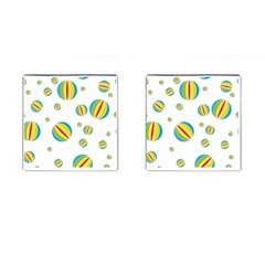 Balloon Ball District Colorful Cufflinks (square)