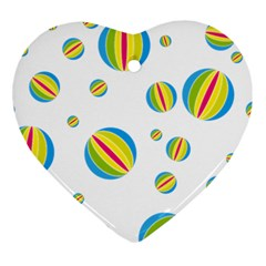 Balloon Ball District Colorful Heart Ornament (two Sides)