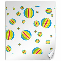 Balloon Ball District Colorful Canvas 20  X 24