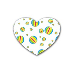 Balloon Ball District Colorful Heart Coaster (4 Pack)