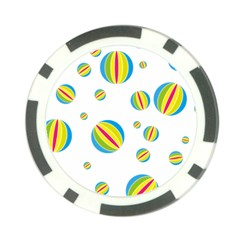 Balloon Ball District Colorful Poker Chip Card Guard (10 Pack)
