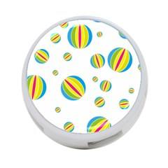 Balloon Ball District Colorful 4 Port Usb Hub (two Sides)