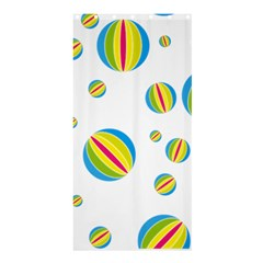 Balloon Ball District Colorful Shower Curtain 36  X 72  (stall)