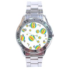 Balloon Ball District Colorful Stainless Steel Analogue Watch