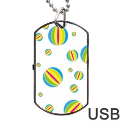 Balloon Ball District Colorful Dog Tag Usb Flash (two Sides)