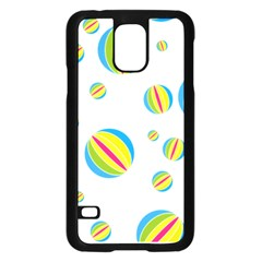Balloon Ball District Colorful Samsung Galaxy S5 Case (black)