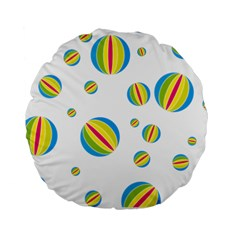 Balloon Ball District Colorful Standard 15  Premium Flano Round Cushions