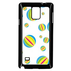 Balloon Ball District Colorful Samsung Galaxy Note 4 Case (black)
