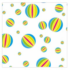 Balloon Ball District Colorful Large Satin Scarf (square)